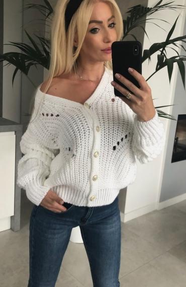 Sweter Viki White