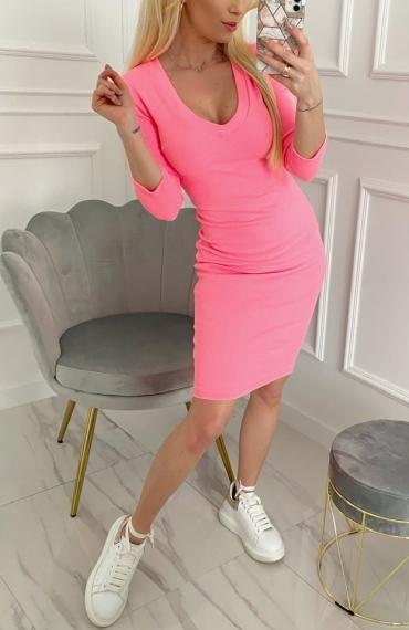 Sukienka Tara neon pink