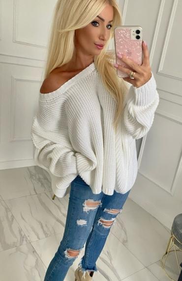 Sweter QUEEN ecru