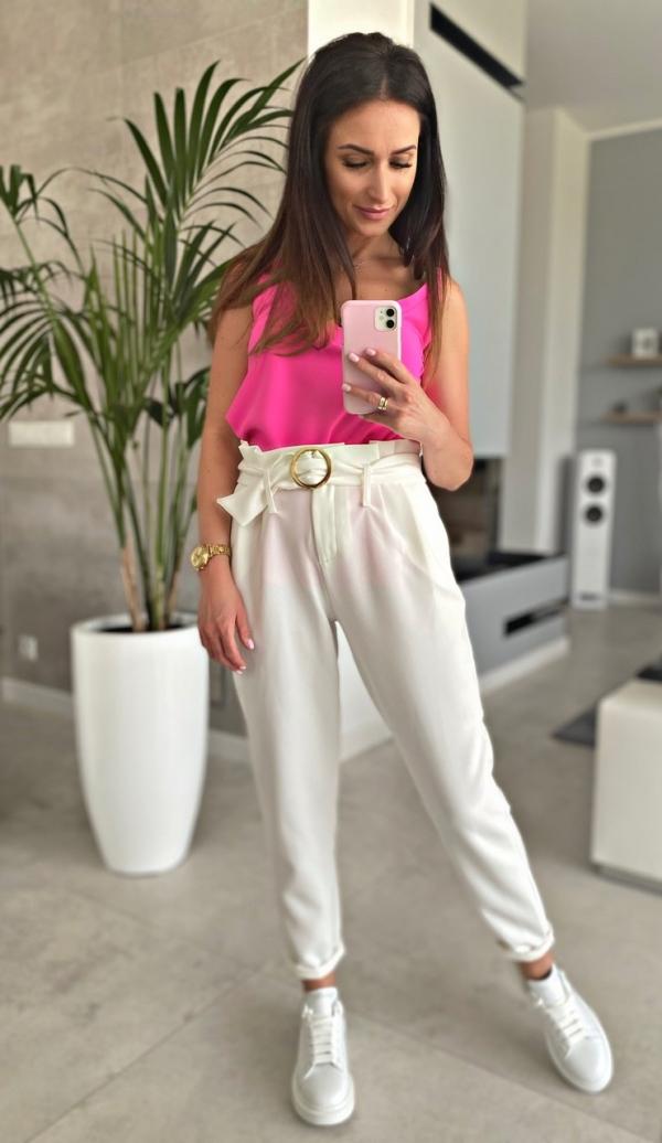 Spodnie Cristina White