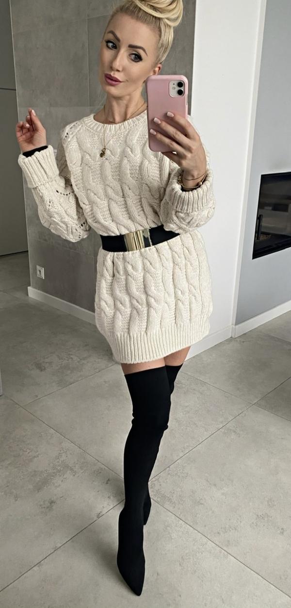 Sweter KORI MAXI BEIGE