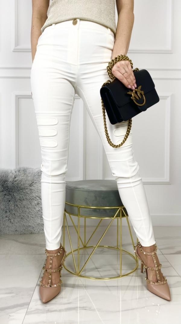 Spodnie BIKER białe